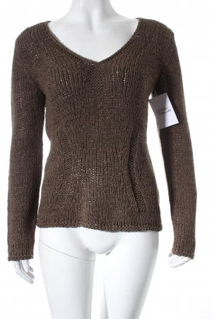 oui Moments Strickpullover braun College-Look
