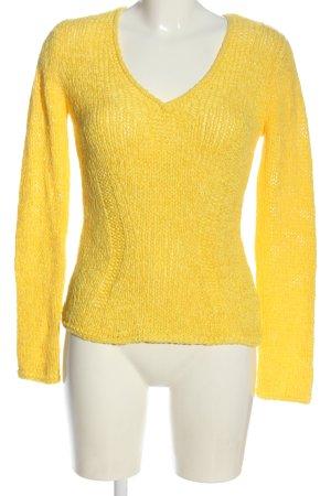 oui Moments V-Ausschnitt-Pullover blassgelb Casual-Look