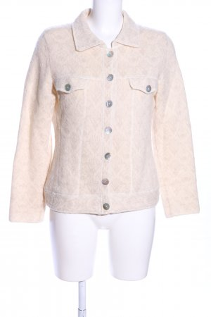 oui Moments Wolljacke creme Mustermix Casual-Look