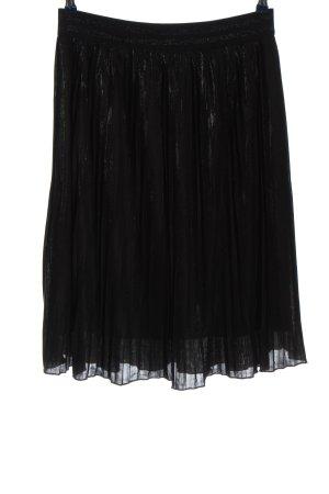 Oui Pleated Skirt black elegant