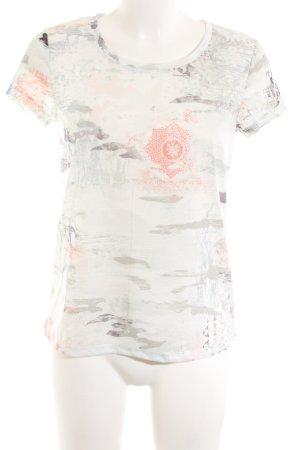 Oui Print-Shirt abstraktes Muster Casual-Look