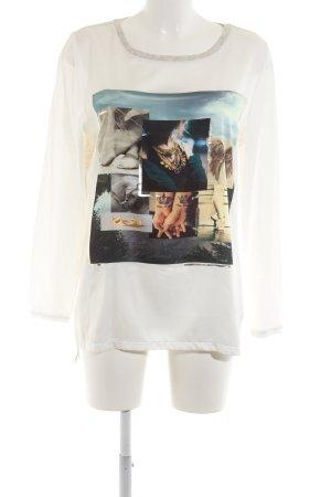 Oui Print-Shirt meliert Casual-Look
