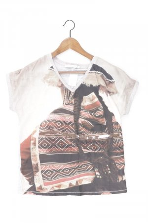 Oui Printshirt Größe 36 Kurzarm mehrfarbig aus Viskose