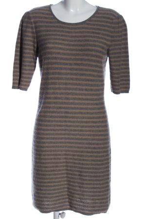Oui Robe pull brun-gris clair imprimé allover style décontracté