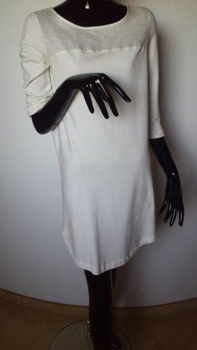 Oui Robe fourreau blanc cassé lin