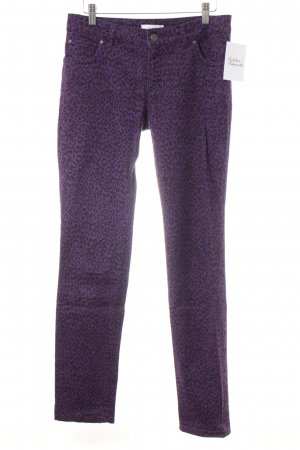 Oui Tube Jeans lilac-black animal pattern casual look