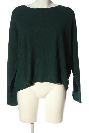 Oui Jersey de cuello redondo verde look casual