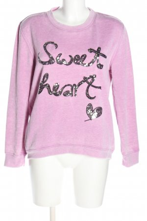 Oui Rundhalspullover pink Casual-Look