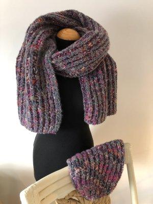 Oui ❤️ Schal und Mütze Set grau rosa
