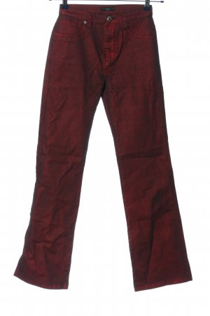Oui Jeansschlaghose rot Casual-Look