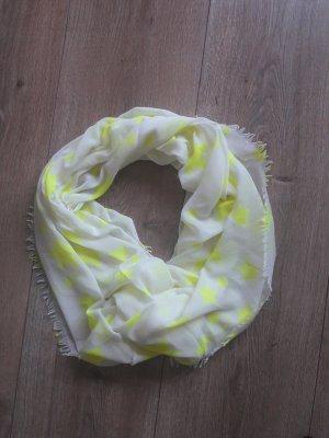 Oui Bufanda tubo blanco-amarillo neón
