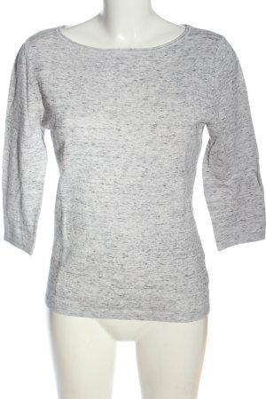 Oui Blusa caída gris claro moteado look casual