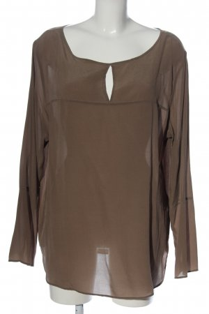 Oui Silk Blouse brown casual look