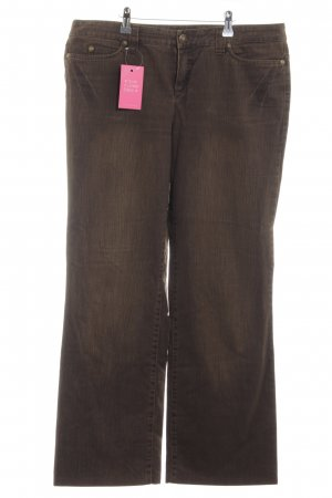 Oui Set Boot Cut Jeans bronzefarben Casual-Look