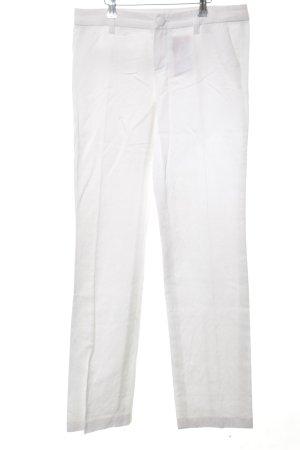 Oui Set Pantalón de pinza blanco look casual