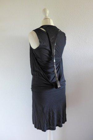 Oui Set Gatsby Flapper 20er vintage Kleid dunklegrau schwarz Gr. 36 S
