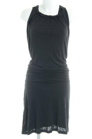 Oui Set Jerseykleid schwarz Glitzer-Optik