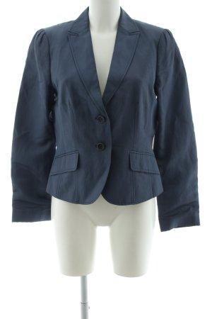 Oui Set Kurz-Blazer blau Business-Look