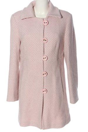 Oui Set Manteau court rose-blanc imprimé allover style d'affaires