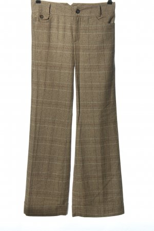 Oui Set Marlene Trousers brown allover print business style