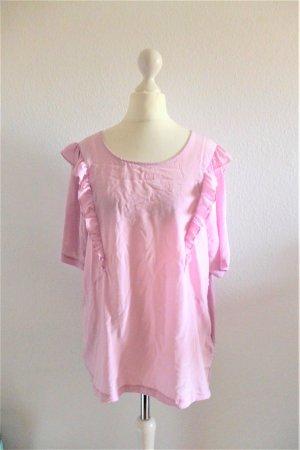 Oui Set Shirt Oberteil Top Bluse rosa Seide Viskose Gr. 40 L