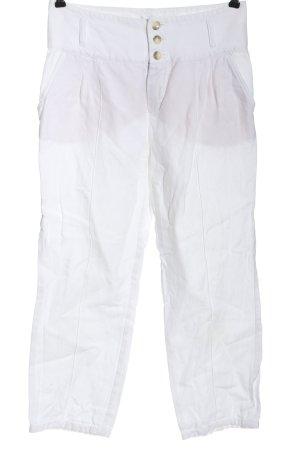 Oui Set Pantalón tipo suéter blanco look casual