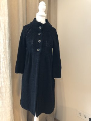 Oui Set Knitted Coat black cotton