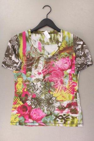 Oui Shirt Größe 38 mit Blumenmuster mehrfarbig aus Baumwolle