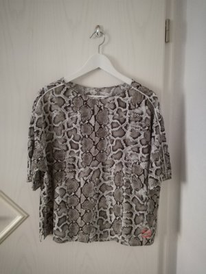 *oui* Shirt mit Schlangenmuster / braun-weiß / Gr. 42-44 / NP 59,95€ - NEU!