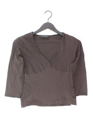 Oui Shirt mit V-Ausschnitt Größe 38 3/4 Ärmel braun aus Polyamid
