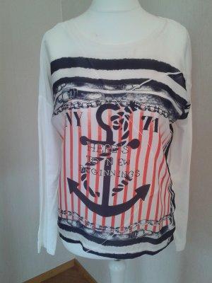 Oui Shirtbluse maritimer Look