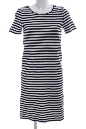 Oui Shirtkleid schwarz-weiß Streifenmuster Casual-Look