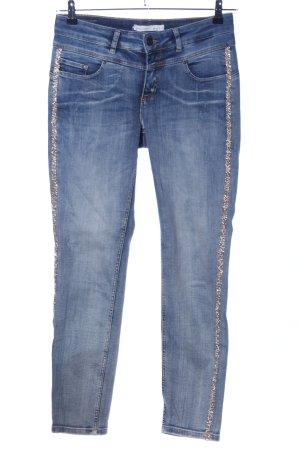 Oui Slim Jeans blau Casual-Look