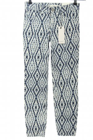 Oui Slim Jeans Allover-Druck Casual-Look