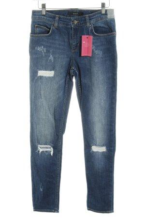 Oui Slim Jeans stahlblau Casual-Look