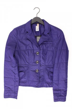 Oui Quilted Jacket blue-neon blue-dark blue-azure polyester