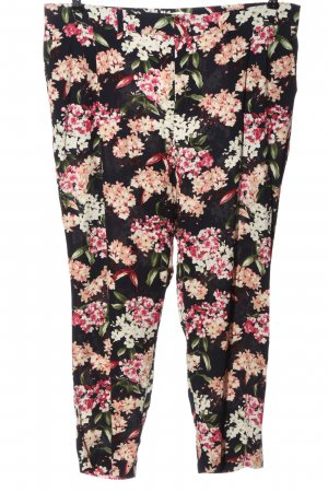 Oui Stoffhose Allover-Druck Casual-Look