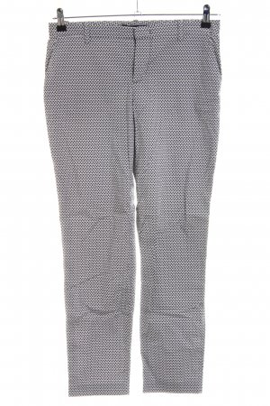 Oui Stoffhose Allover-Druck Business-Look