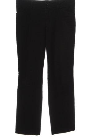 Oui Pantalon en jersey noir style décontracté