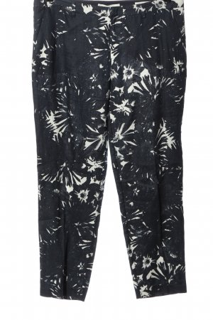 Oui Stoffhose abstraktes Muster Casual-Look