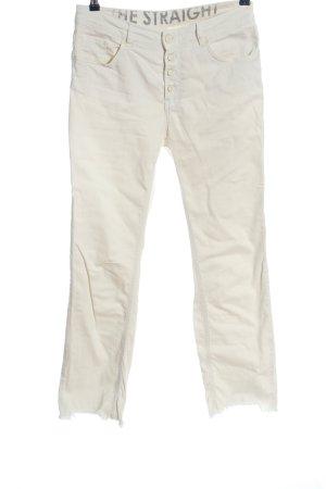 Oui Straight-Leg Jeans wollweiß Casual-Look