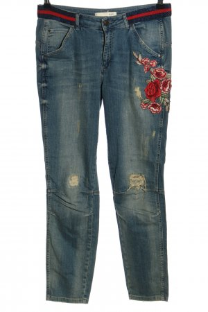 Oui Stretch Jeans blau Casual-Look
