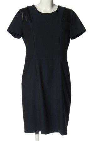 Oui Stretchkleid blau-schwarz Elegant