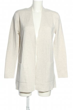 Oui Strick Cardigan wollweiß meliert Casual-Look