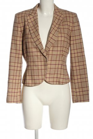 Oui Strickblazer braun Allover-Druck Business-Look