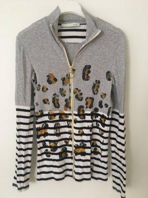Oui Veste en tricot multicolore coton