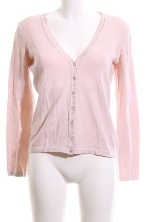 Oui Strickjacke pink Casual-Look