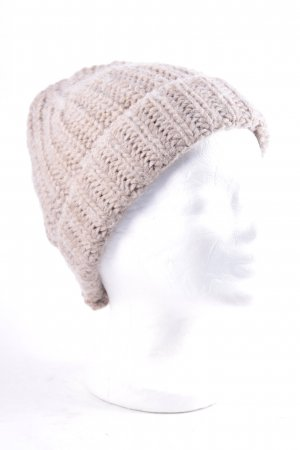 Oui Knitted Hat beige casual look
