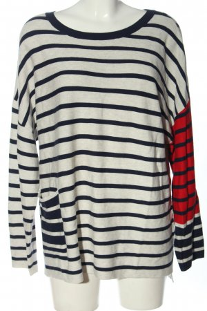 Oui Strickpullover Allover-Druck Casual-Look