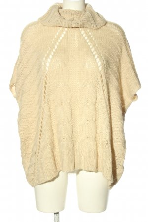 Oui Strickpullover creme Casual-Look